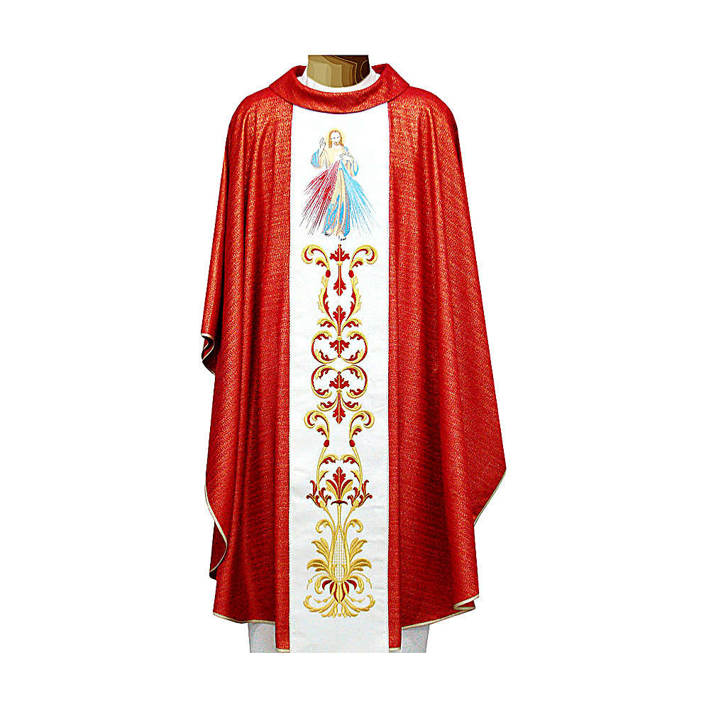 Casula 90% lana vergine doppio ritorto ricamo Gesù 4