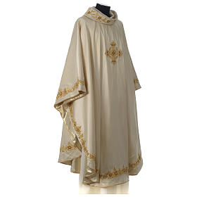 Chasuble 100% silk with handmade embroidery, V neckline s4