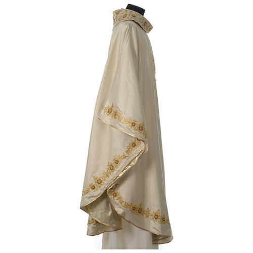 Chasuble 100% silk with handmade embroidery, V neckline 7