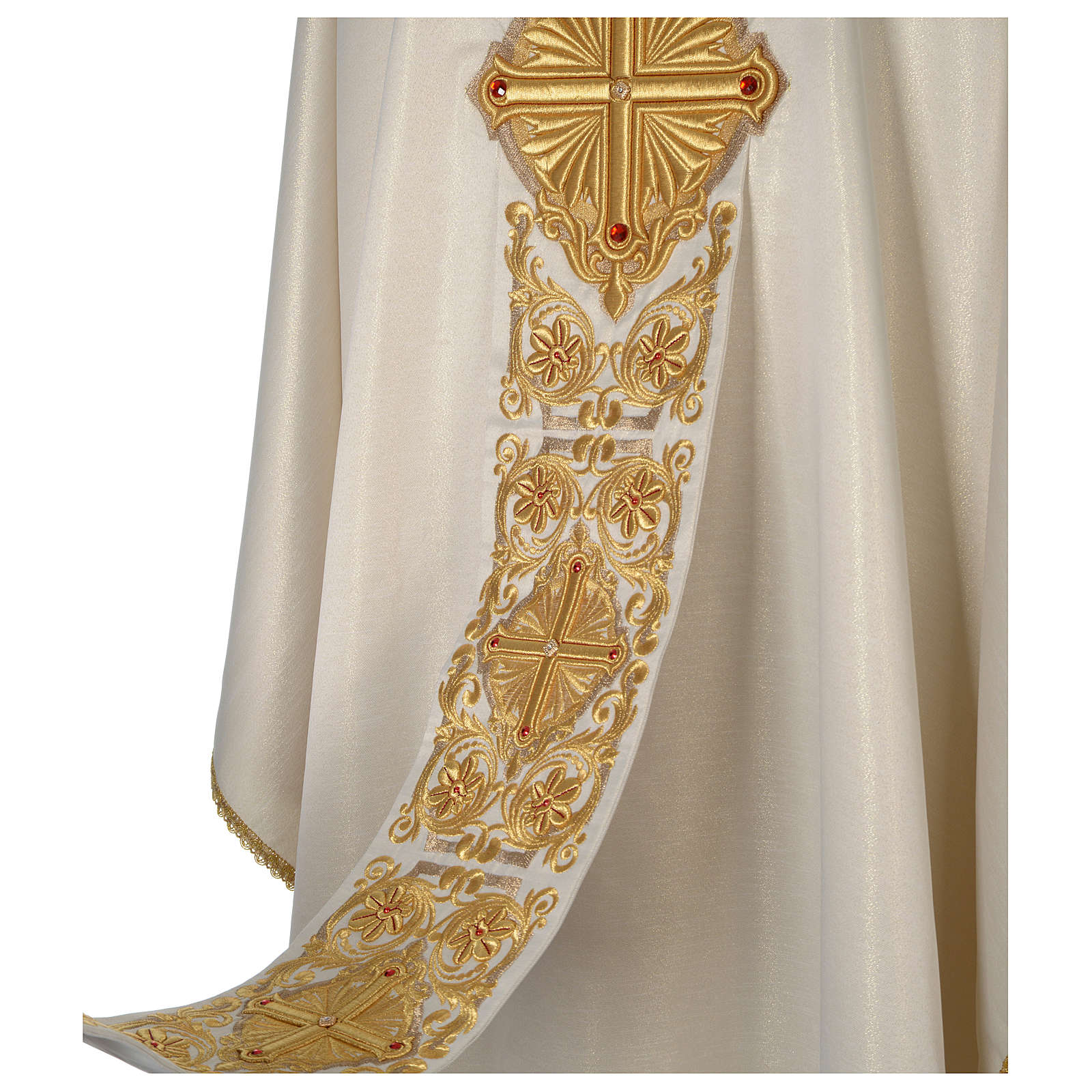 Casula avorio Limited Edition ricco decoro oro pietre 4