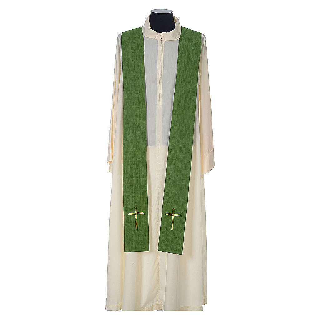 Chasuble 100% polyester with embroidered Cross 4