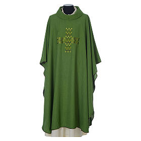 Chasuble 100% polyester with embroidered Cross s3
