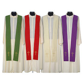 Chasuble 100% polyester with embroidered Cross s8