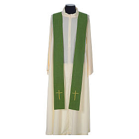 Chasuble 100% polyester with embroidered Cross s9