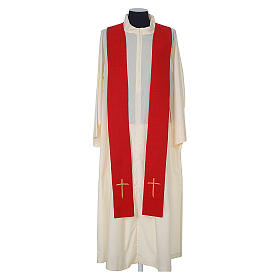 Chasuble 100% polyester with embroidered Cross s10
