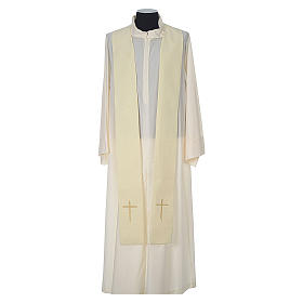 Chasuble 100% polyester with embroidered Cross s11