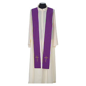 Chasuble 100% polyester with embroidered Cross s12