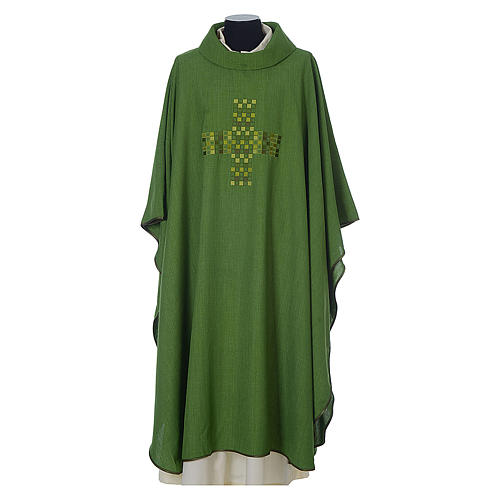 Chasuble 100% polyester with embroidered Cross 3