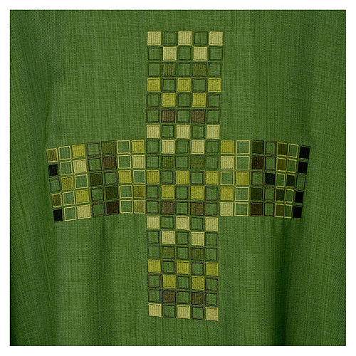 Chasuble 100% polyester with embroidered Cross 7