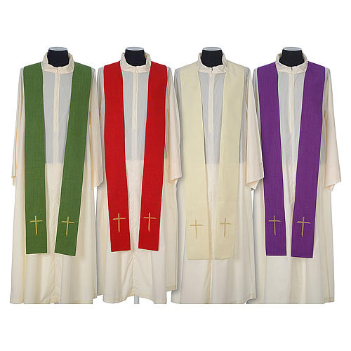 Chasuble 100% polyester with embroidered Cross 8