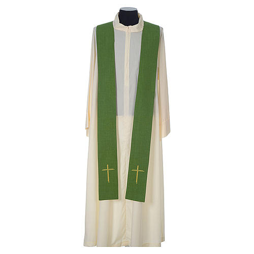 Chasuble 100% polyester with embroidered Cross 9