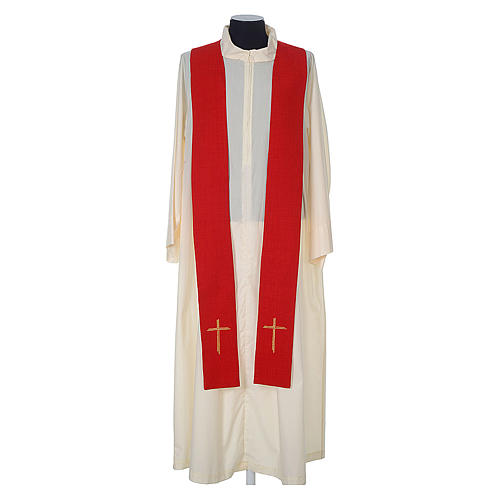 Chasuble 100% polyester with embroidered Cross 10
