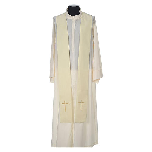 Chasuble 100% polyester with embroidered Cross 11