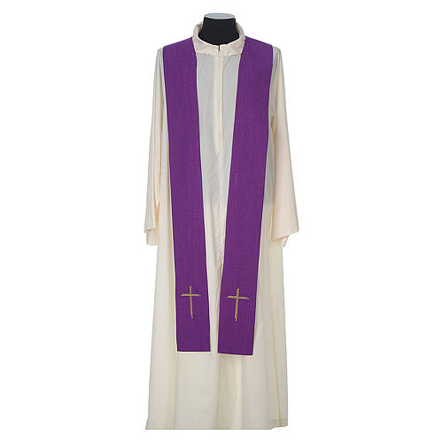 Chasuble 100% polyester with embroidered Cross 12
