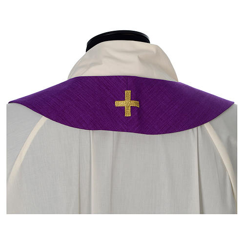 Chasuble 100% polyester with embroidered Cross 13