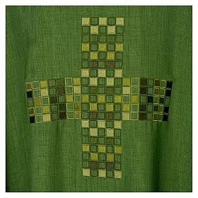 Casula 100% poliestere Croce quadri ricamata s7