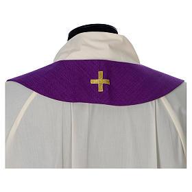 Casula 100% poliestere Croce quadri ricamata s13