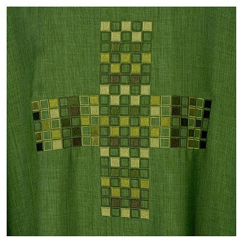 Casula 100% poliestere Croce quadri ricamata 7
