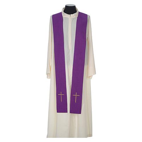 Casula 100% poliestere Croce quadri ricamata 12