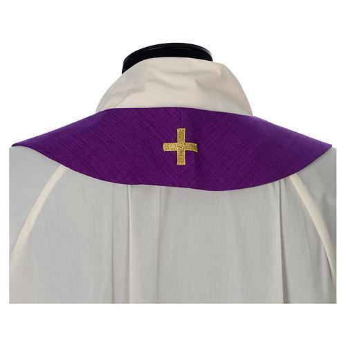 Casula 100% poliestere Croce quadri ricamata 13