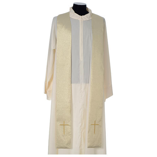 Chasuble in polyester with Cross embroidery, gold 6