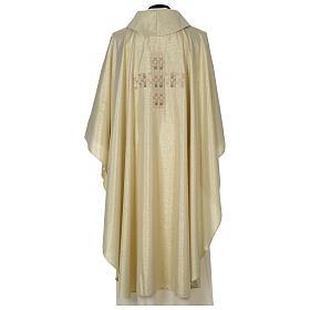 Casula Oro 100% poliestere Croce quadri ricamata s5