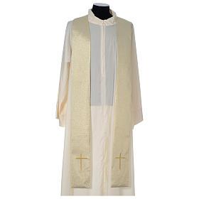 Casula Oro 100% poliestere Croce quadri ricamata s6