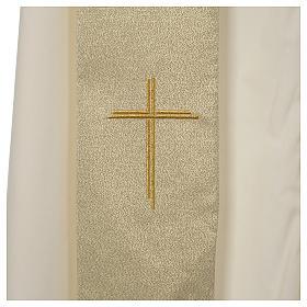 Casula Oro 100% poliestere Croce quadri ricamata s7