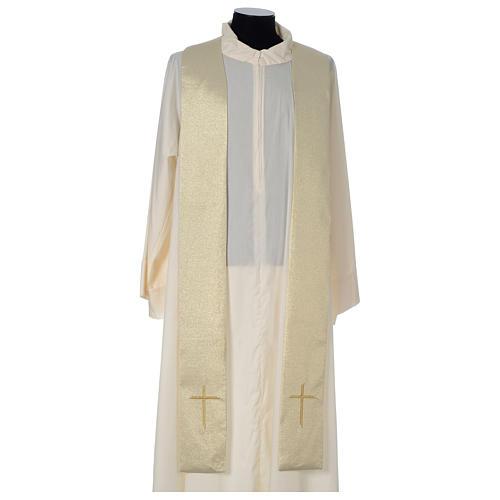 Casula Oro 100% poliestere Croce quadri ricamata 6