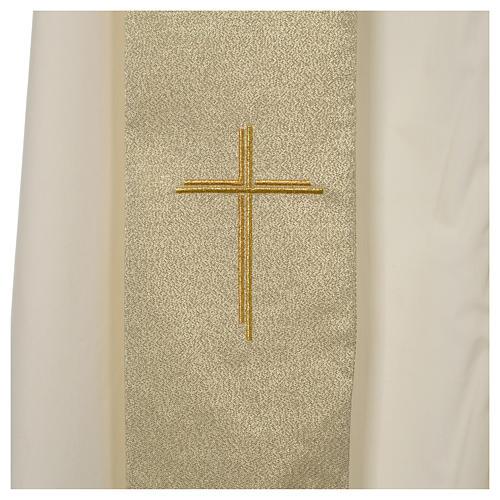 Casula Oro 100% poliestere Croce quadri ricamata 7