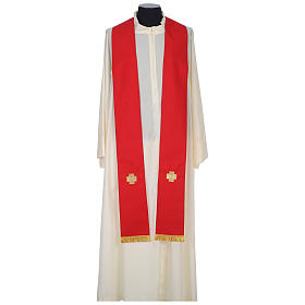 Chasuble 100% wool with crosses and Swarovski crystals s9