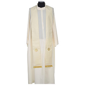 Chasuble 100% wool with crosses and Swarovski crystals s10