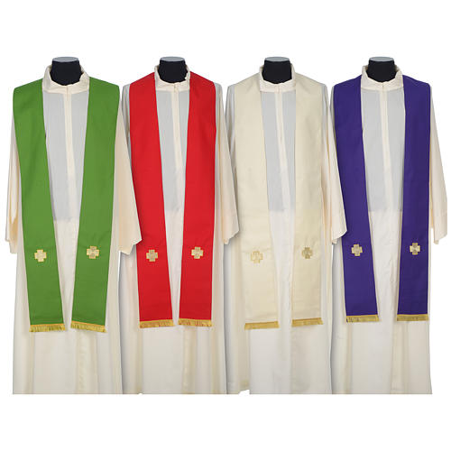 Chasuble 100% wool with crosses and Swarovski crystals 7