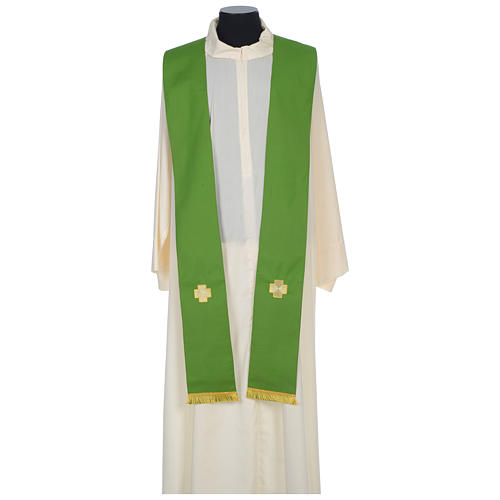 Chasuble 100% wool with crosses and Swarovski crystals 8