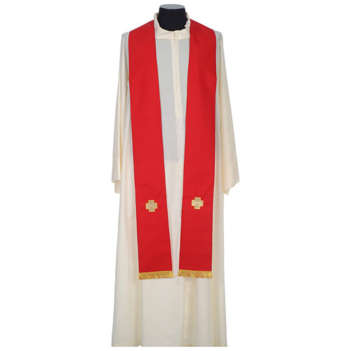 Chasuble 100% wool with crosses and Swarovski crystals 9