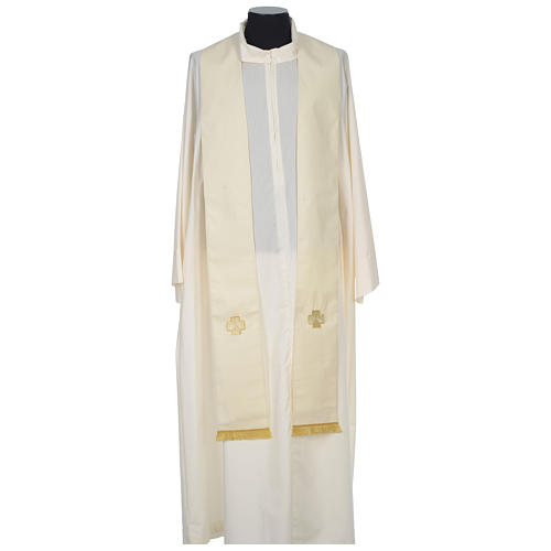 Chasuble 100% wool with crosses and Swarovski crystals 10