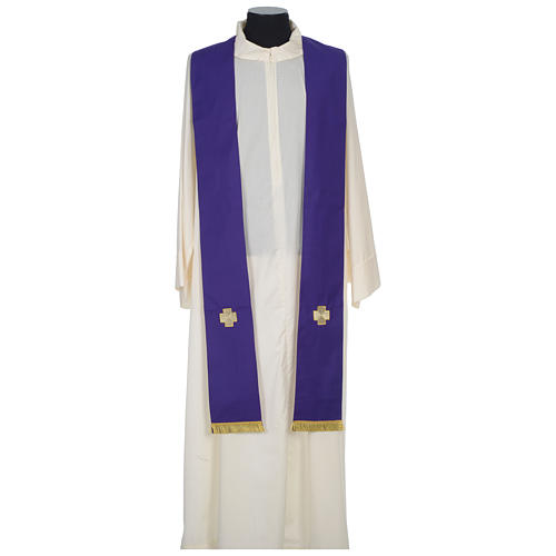Chasuble 100% wool with crosses and Swarovski crystals 11