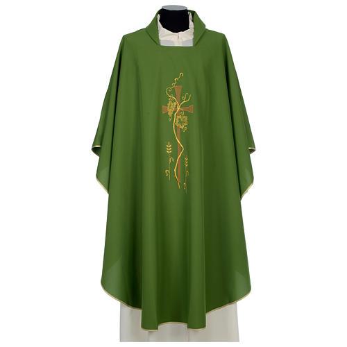 Ornat 100% poliester Krzyż winorośl kłosy 1