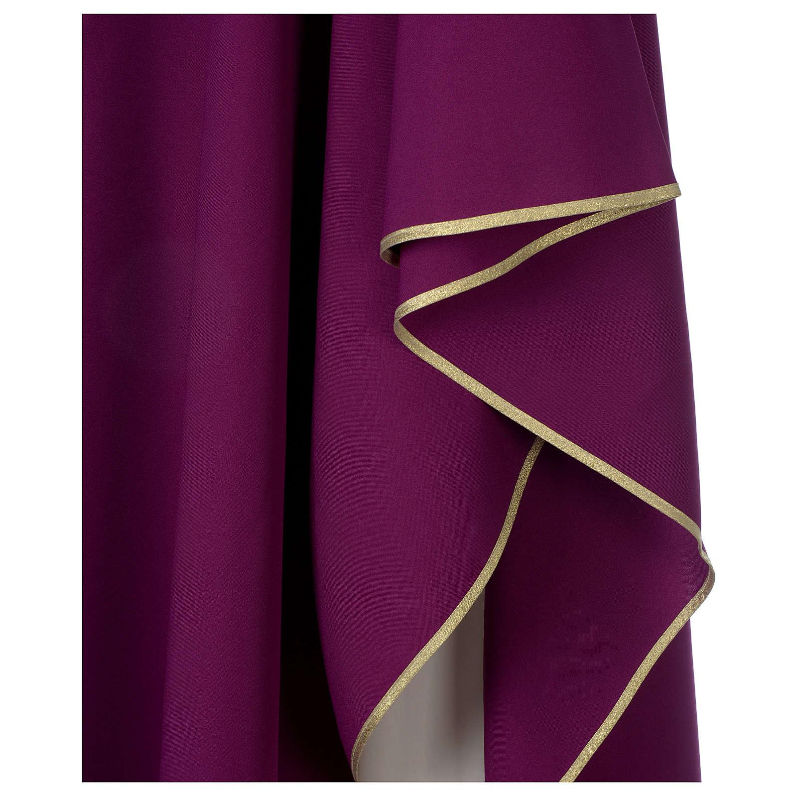 Chasuble 100% polyester Bourgogne croix vigne épis 4
