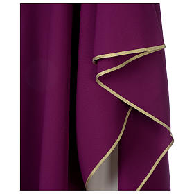 Chasuble 100% polyester Bourgogne croix vigne épis s4