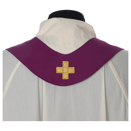 Chasuble 100% polyester Bourgogne croix vigne épis 8