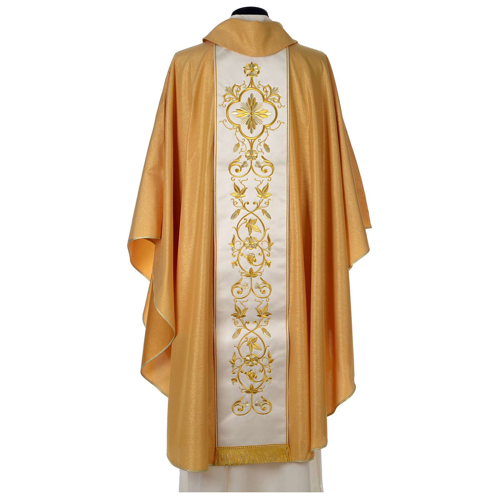 Chasuble or bande centrale pure laine or 4