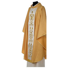 Chasuble or bande centrale pure laine or s3