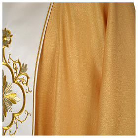 Chasuble or bande centrale pure laine or s4
