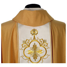 Chasuble or bande centrale pure laine or s6