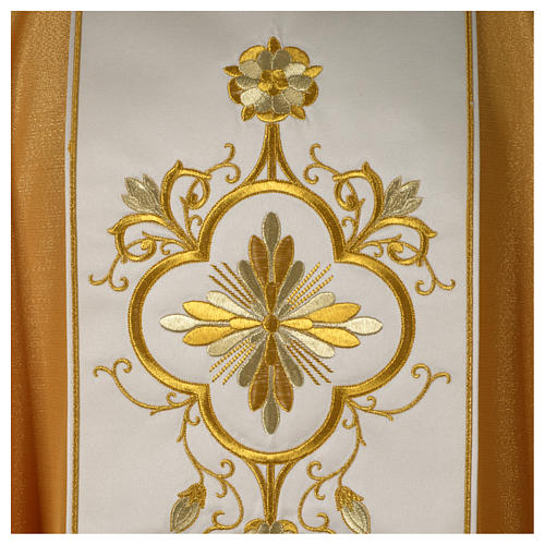 Chasuble or bande centrale pure laine or 2
