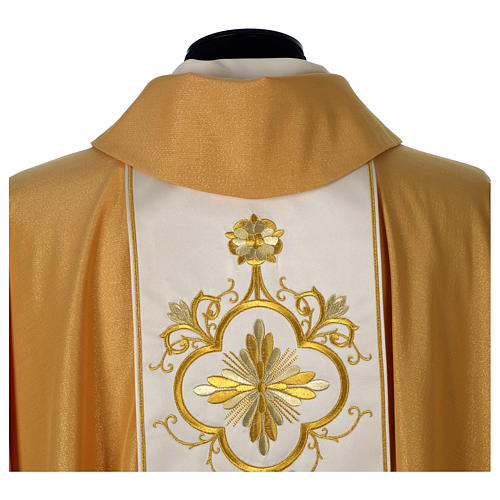 Chasuble or bande centrale pure laine or 6