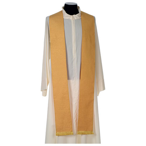 Chasuble or bande centrale pure laine or 7