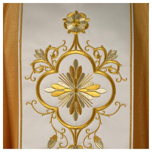 Ornat złoty pas czysta wełna złoty 2
