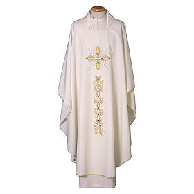 Chasuble 100% polyester with machine embroidery s1